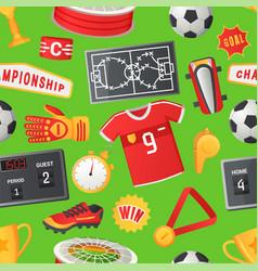 soccer seamless pattern sport football vector image
