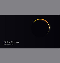 solar eclipse astronomical phenomenon - full sun vector image