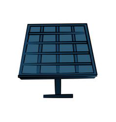 solar panel icon image vector image