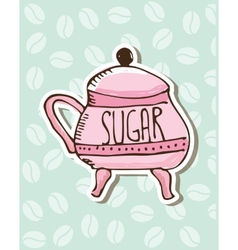 sugar porcelain design vector image
