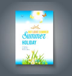 Summer nice day vector