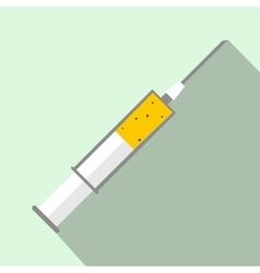 Syringe icon flat style vector image