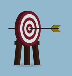 Target with arrow vector