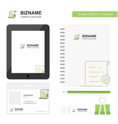 text document business logo tab app diary pvc vector image