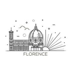 the cattedrale di santa maria del fiore - the vector image