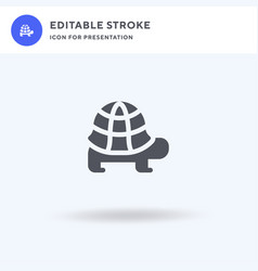 tortoise icon filled flat sign solid vector image