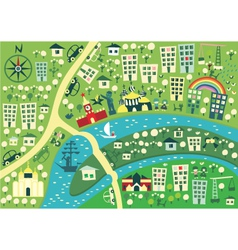 Town graphic map vector