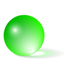 Transparent Green Sphere vector image