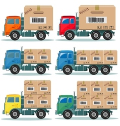 Truck for delivery set vector image