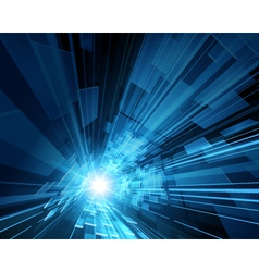 Virtual technology space background vector image