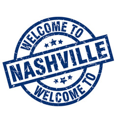 Welcome to nashville blue stamp vector