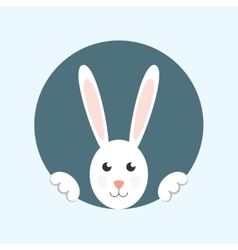 White easter rabbit vector image