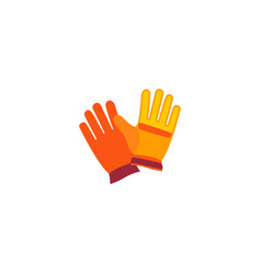 worker gloves icon flat element vector image