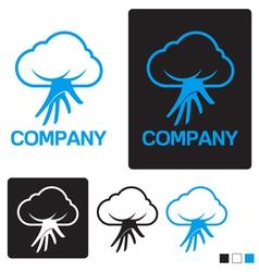 cloud service logo template vector image vector image