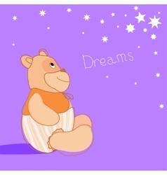 Romantic Bear-1 vector image vector image
