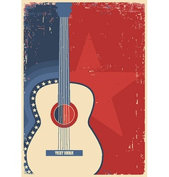Concert guitar for poster music festival vector image vector image