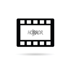 film tape horror vector image vector image