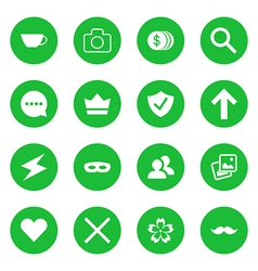 Set of flat web icons vector