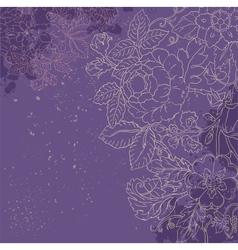 Vintage grunge flower backgriund vector image vector image