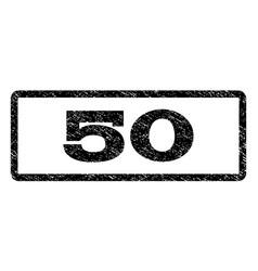 50 watermark stamp vector