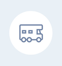 camping car icon camper sign vector image