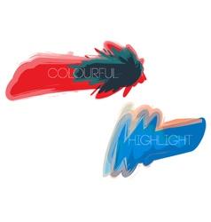 Colourful-highlight vector