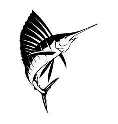 graphic marlin vector image vector image