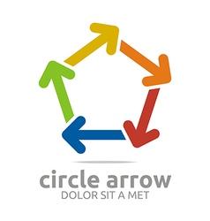 Pentagon arrow colorful design symbol icon vector