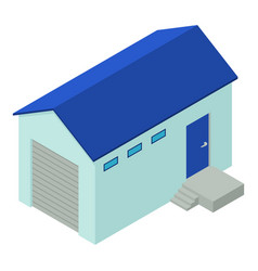 warehouse icon isometric style vector image vector image