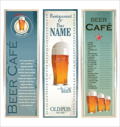 Beer cafe design template vector image vector image