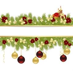 christmas pine frame 2311 01 vector image