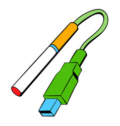 Electronic cigarettes charge icon cartoon vector