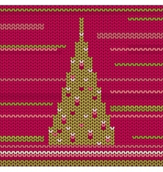 Knitted Christmas Tree vector image vector image