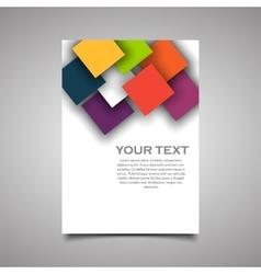 Modern simple business flyer vector