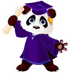 Panda Graduates vector image vector image