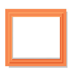 realistic dual orange frame flat and shadow theme vector image vector image
