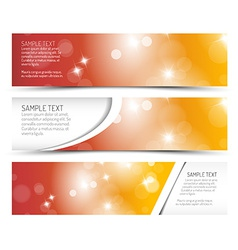 Set of hot summer horizontal banners vector image vector image