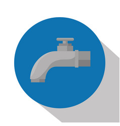 tap water isolated icon vector image vector image