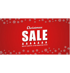 Template red background for the Christmas sales vector image vector image