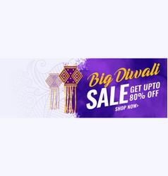 abstract big diwali festival sale banner design vector image