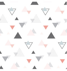 abstract geometric scandinavian seamless pattern vector image