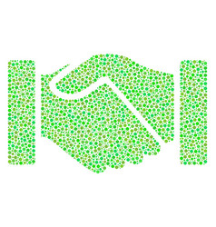 Acquisition handshake mosaic of small circles vector