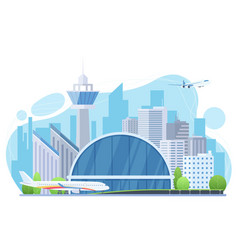 airport exterior flat vector image