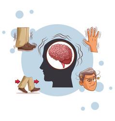 Alzheimer disease cartoon vector