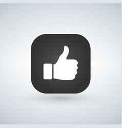 app button hand like thumb up icon vector image