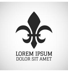 Black silhouetted fleur-de-lis symbol vector