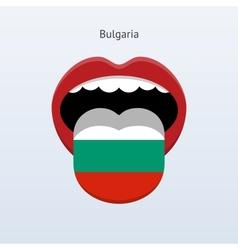 Bulgaria language Abstract human tongue vector