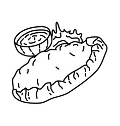 calzones icon doodle hand drawn or outline icon vector image