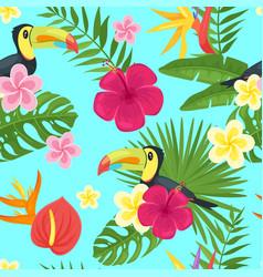 Cartoon style summer seamless pattern vector