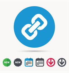chain icon internet web hyperlink sign vector image